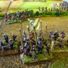 Musketiere haben Hecke zurückerobert und Gegner vertrieben